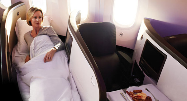 Upper Class Flat Bed with Virgin Atlantic