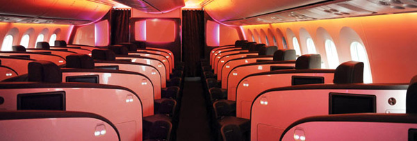 Upper Class Cabin with Virgin Atlantic